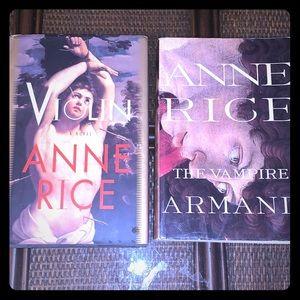 2 Anne Rice Novels Vampire Armand PB & Violin HC